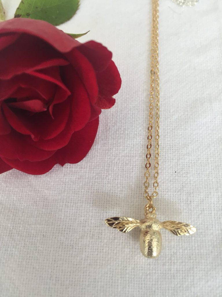 Getting Stuff Done in Heels   Home, Interiors and Lifestyle   Gold Plated Honey Bee Necklace