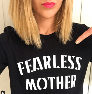 mutha hood fearless mother slogan t-shirt