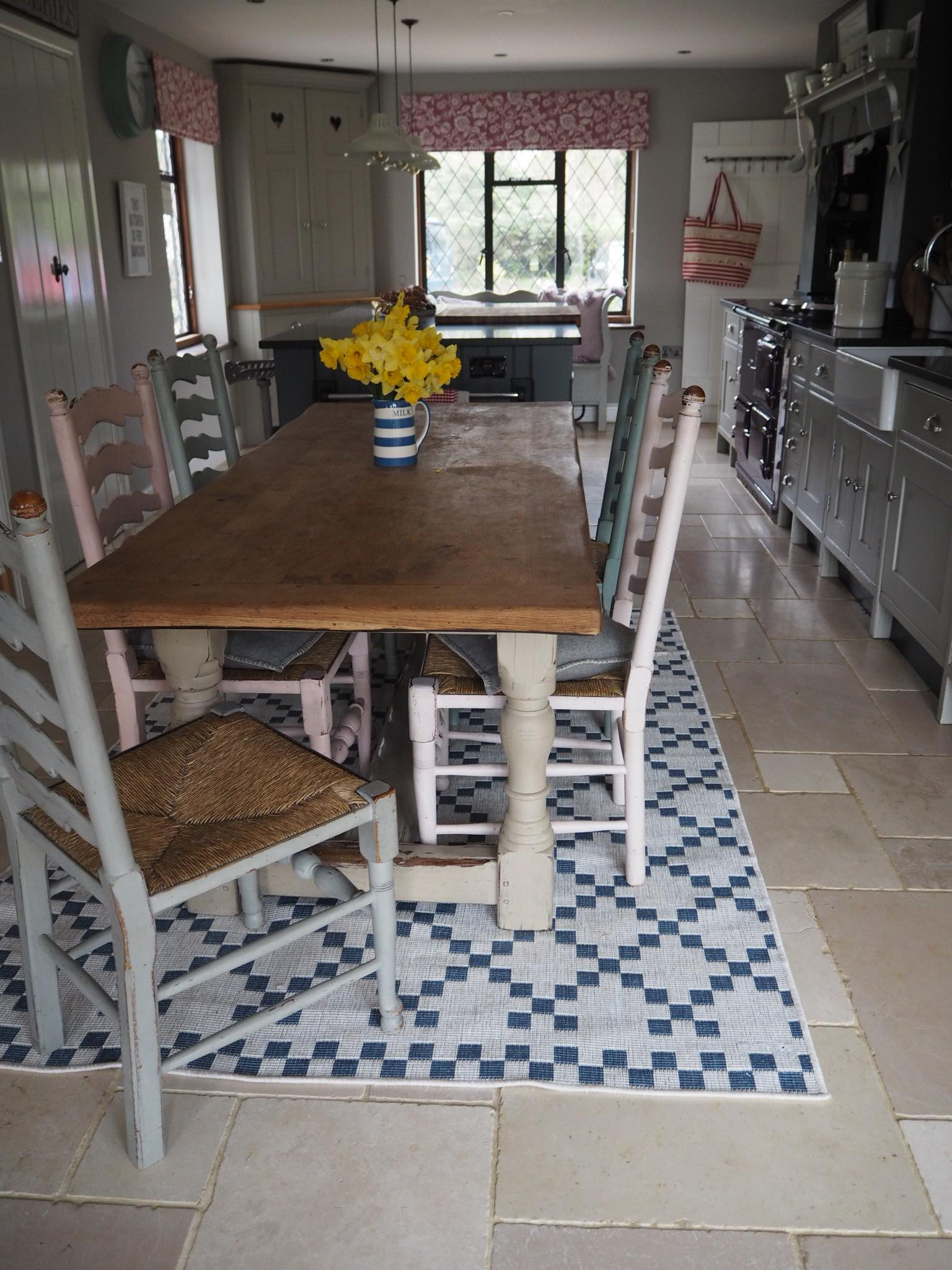 rug in a country kitchen