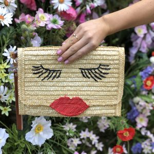Lulu Lips Clutch Bag