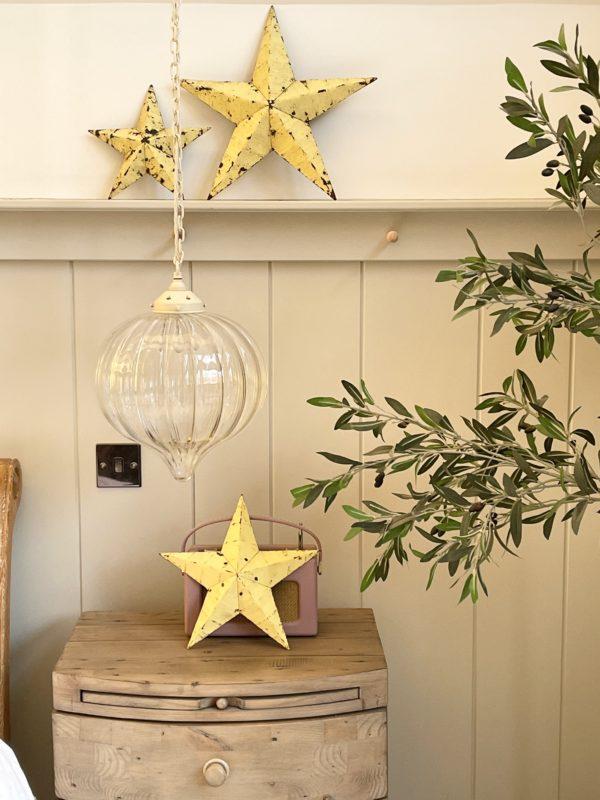 medium yellow barn star
