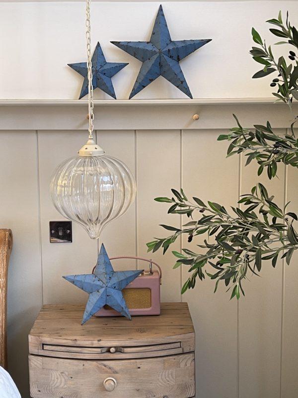 medium blue barn star