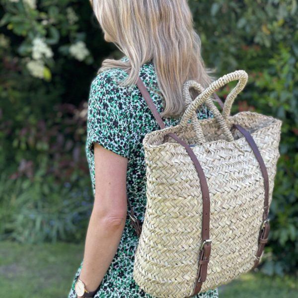 getting stuff done in heels backpack oversized basket